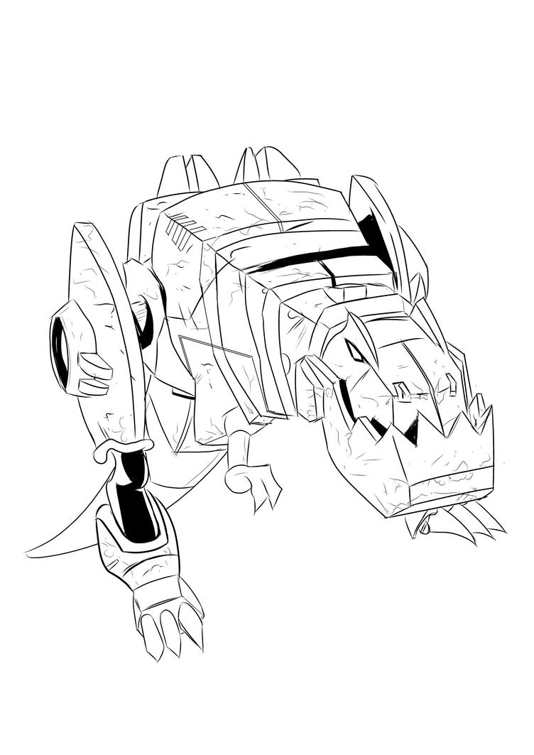grimlock dinobot sketch by sketchschmidt on deviantart