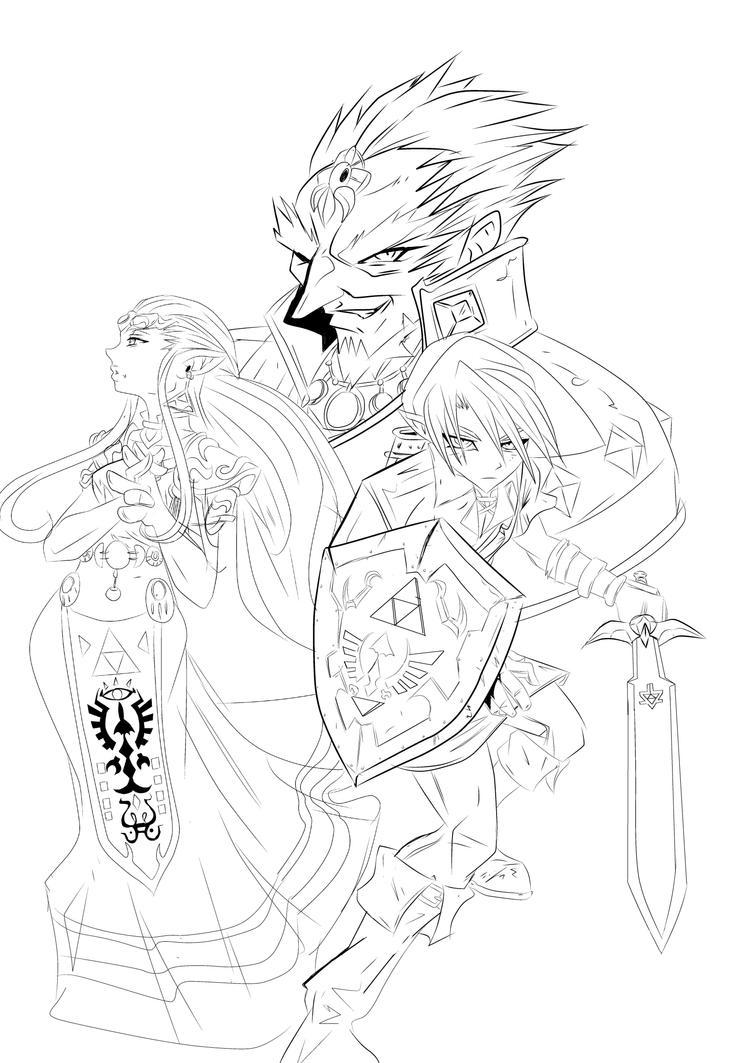 Line Art Zelda : The legend of zelda lines by sketchschmidt art on deviantart