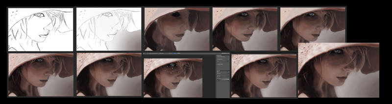 WIP - Portrait and realism study by Avalonne65