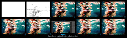 WIP Realism and water reflection study by Avalonne65