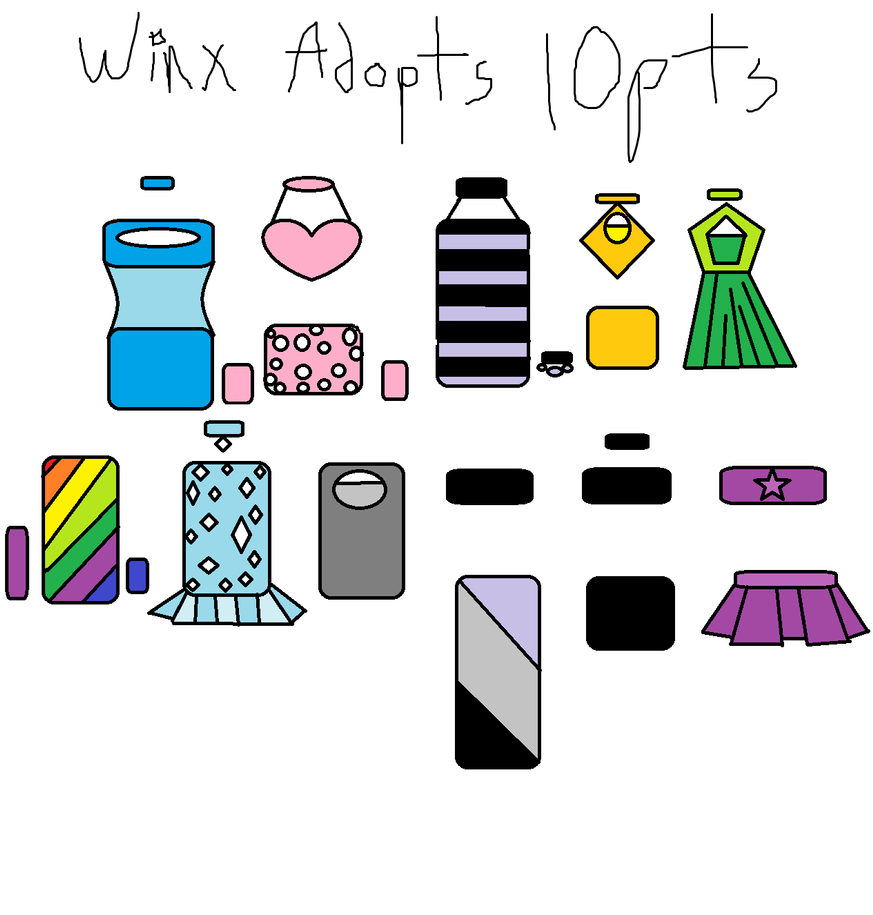 Winx Adopts  For SALE!!!X3 by EmoSandy93