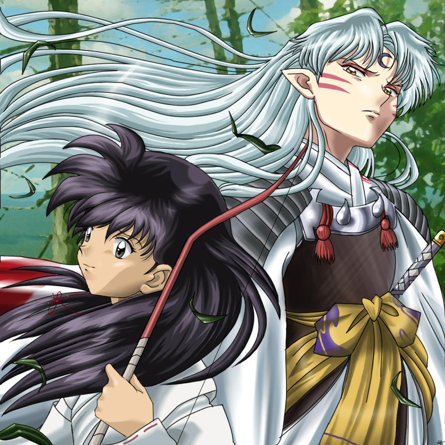 HotM: Sesshoumaru and Kagome by Quietharm