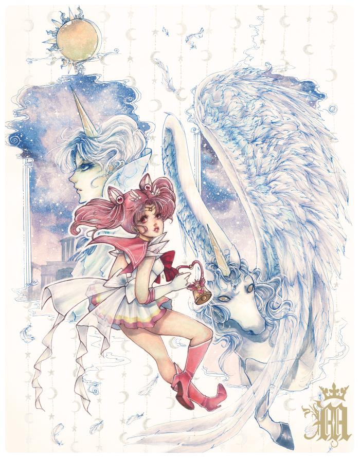 Chibi Moon and Pegasus by m-aruka