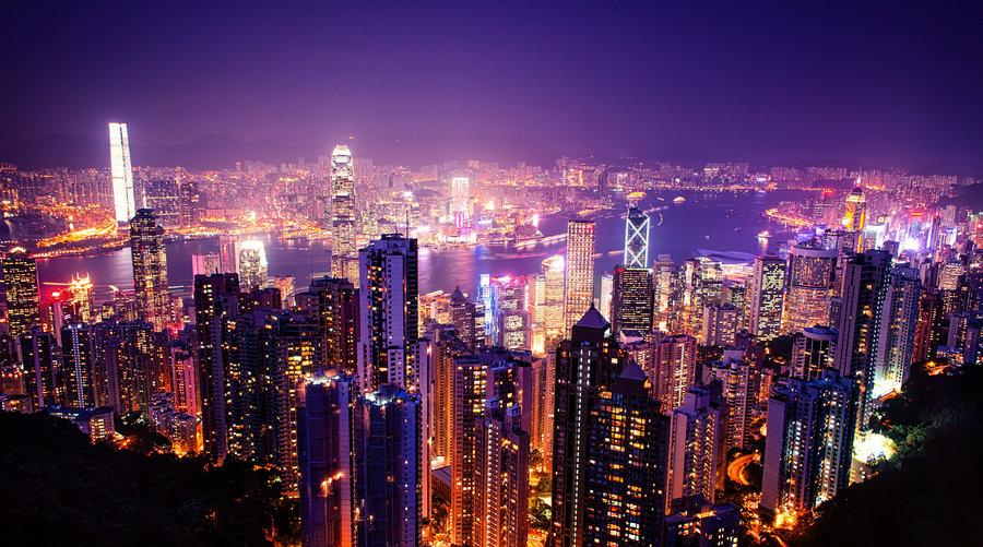 Hong Kong night lights by Cityneon