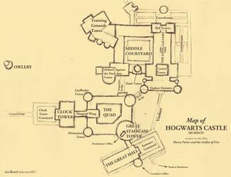 Map of Hogwarts - draft I by leethree9
