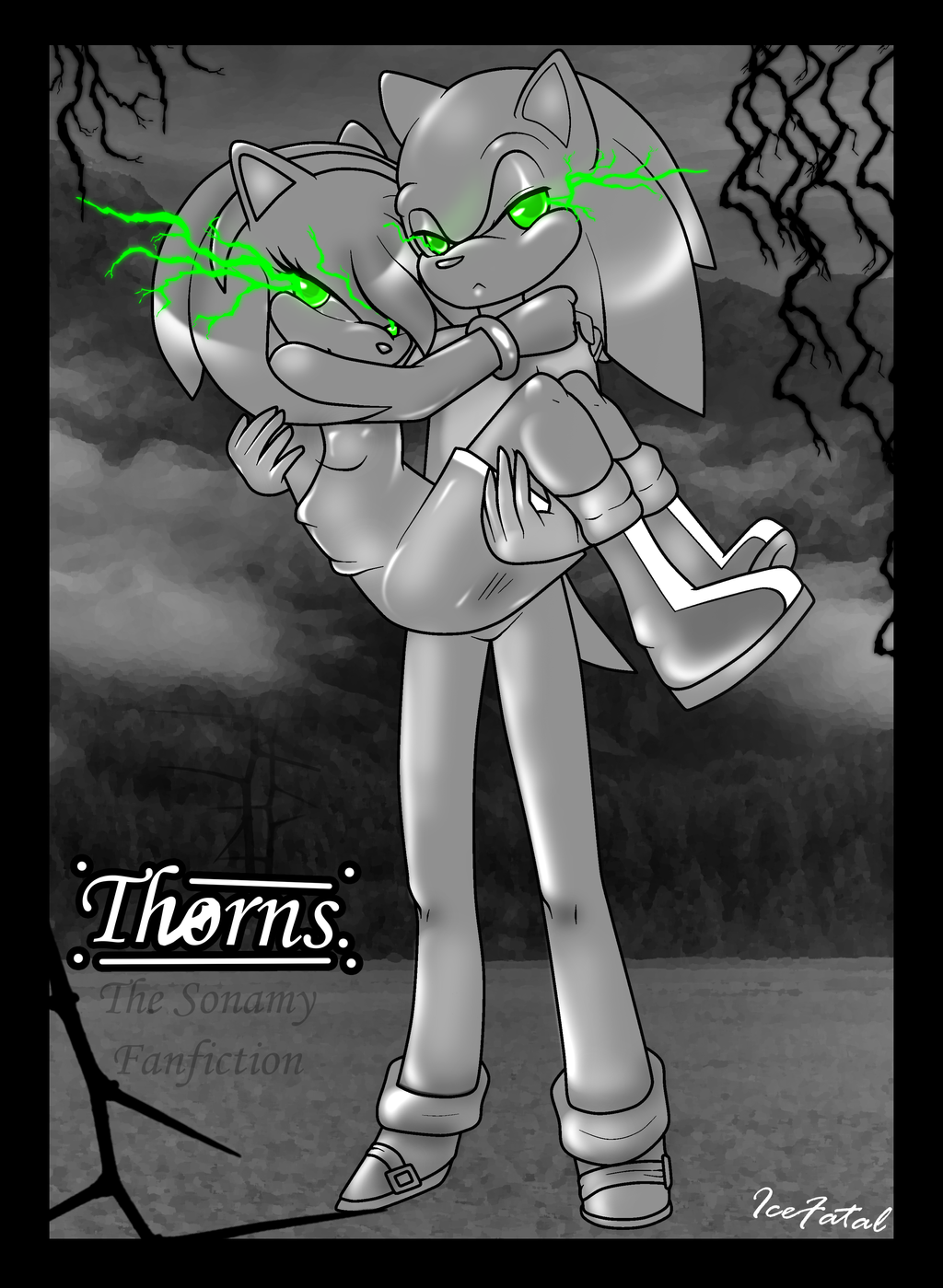 Sonamy Fan Fiction: Cover: ''Thorns.'' by icefatal