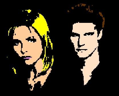 Buffy and Angel Pop Art by hordoc2