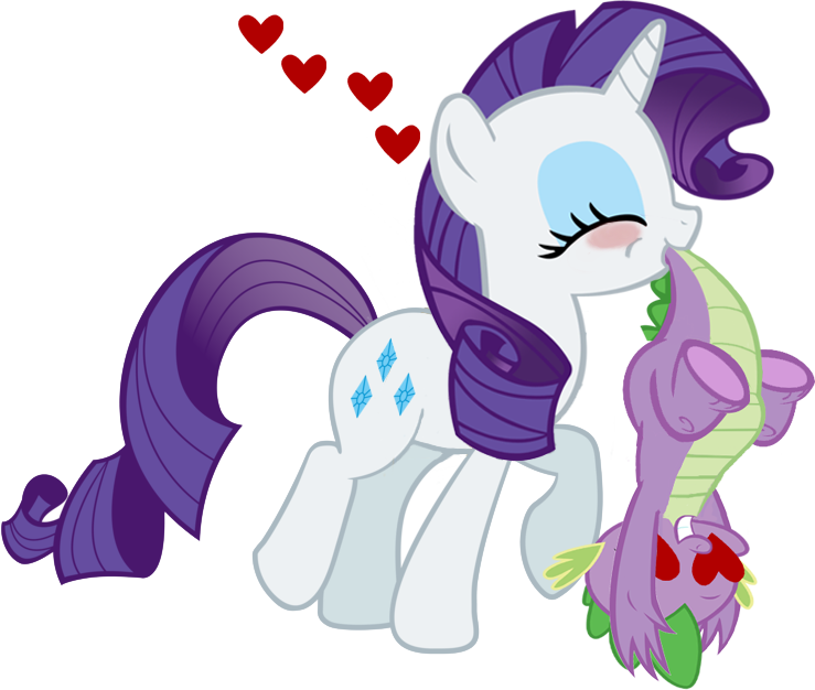 Rarity and her prize. by dlazerous
