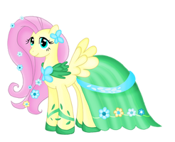 Fluttershy's Gala Dress by Squeemishness
