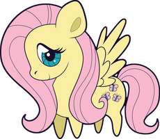 Chibi Fluttershy by Squeemishness