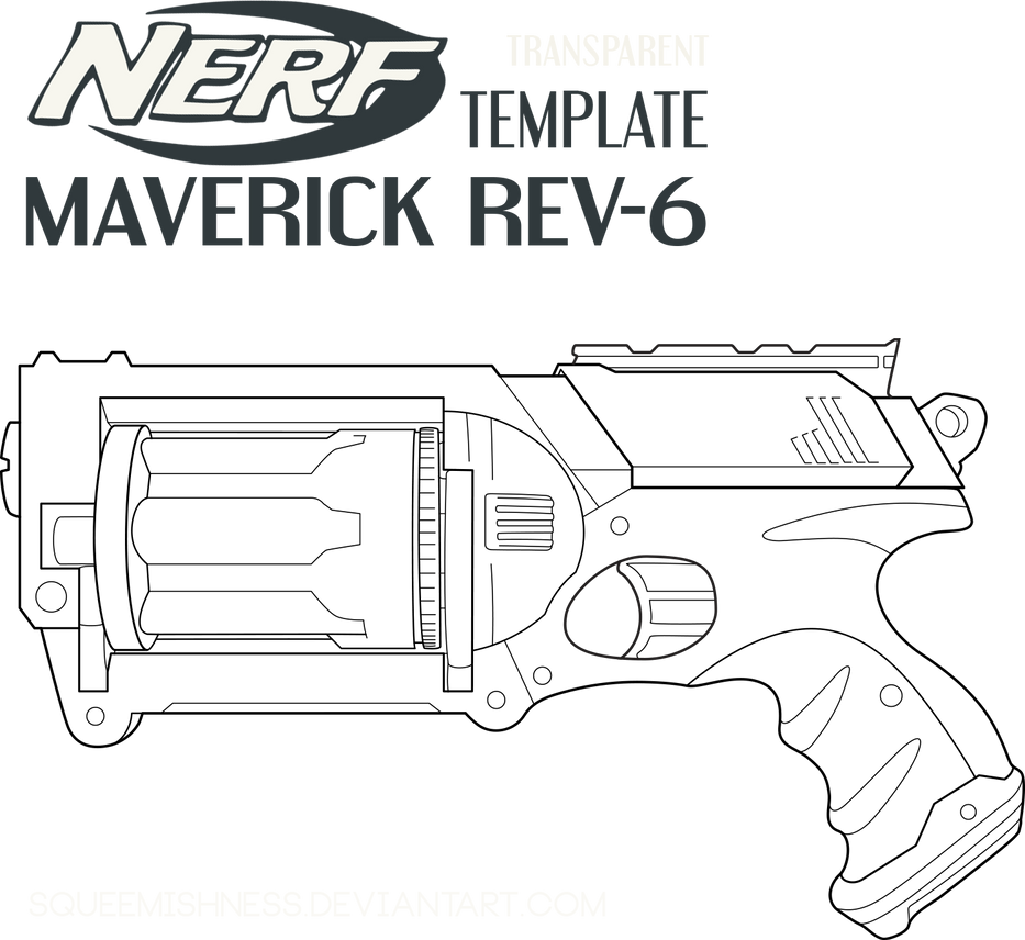 Nerf Maverick Rev 6 By Squeemishness On Deviantart Nerf Coloring Pages
