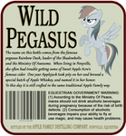 Wild Pegasus Label - Rear