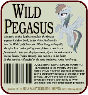 Wild Pegasus Label - Rear