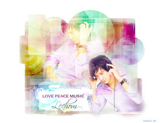 LOVE PEACE MUSIC-Leehom by isa-ayu