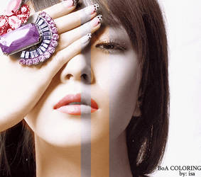 BoA first coloring by isa-ayu