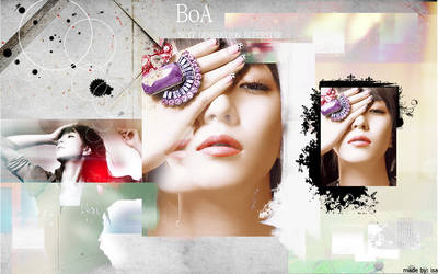BoA coloring wallpaper by isa-ayu