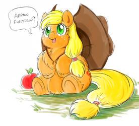 Fluffy Applejack by marcusmaximus