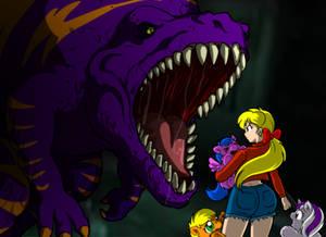 Fluffies vs Dinosaur