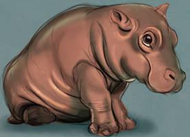 Sketchy hippo by Shiba-Inuuu