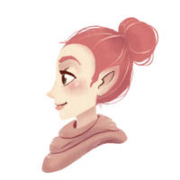 Pink haired elf-person, thing? by Shiba-Inuuu