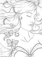 Sleeping Beauty Lineart by Violetris
