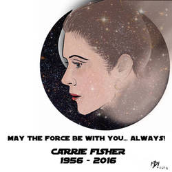 In Memory of Princess Leia (Carrie Fisher) by MartinDunn