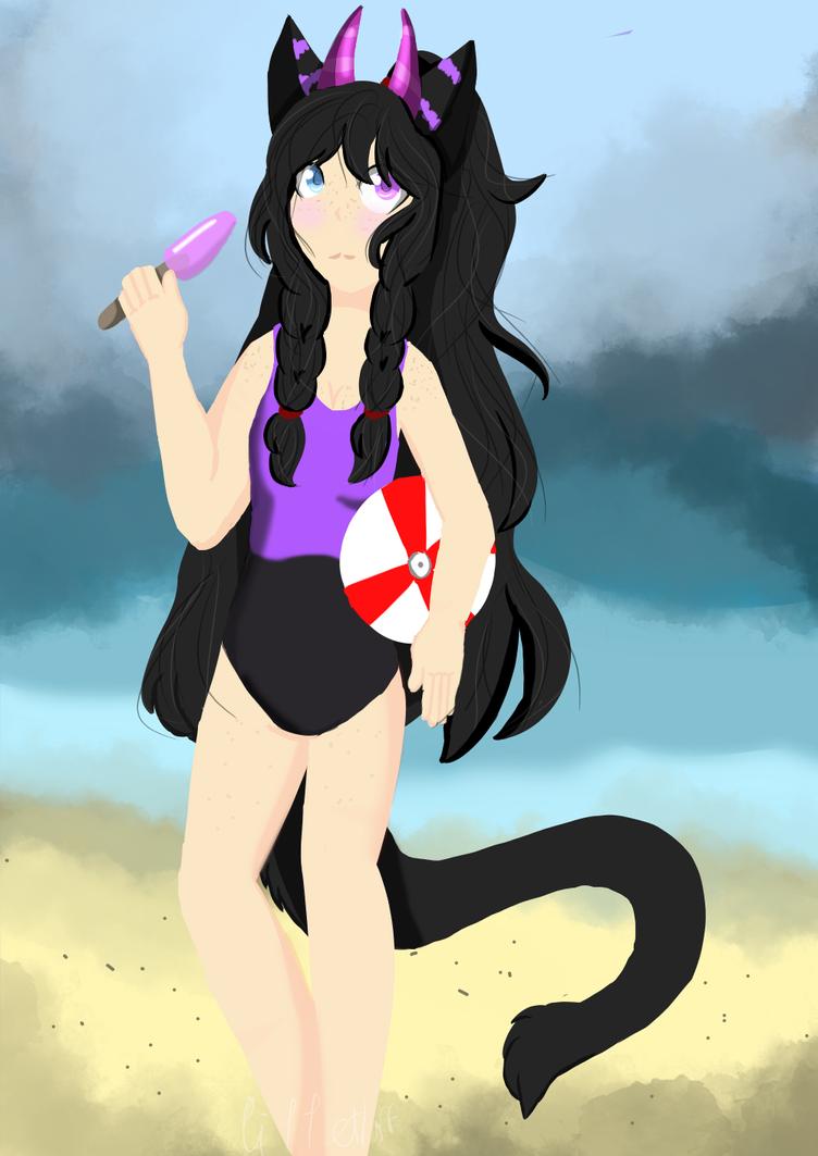 Its Beach time!(Redraw) by NekoartsCandy