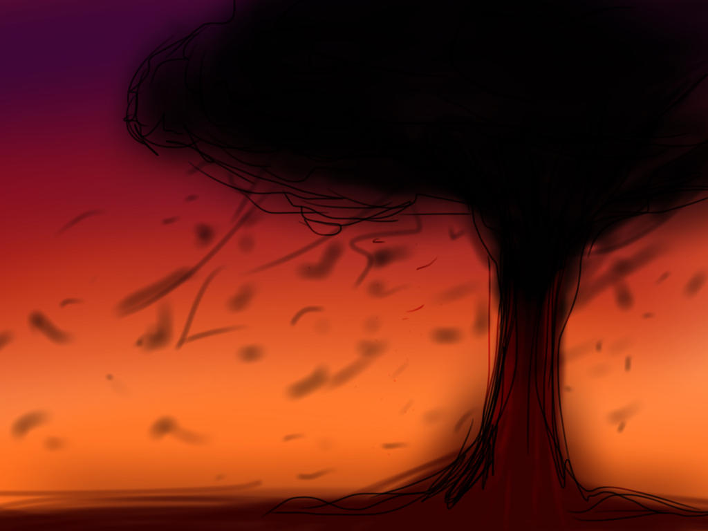 Sketch a tree challenge by The-Hedgehog-Shadow