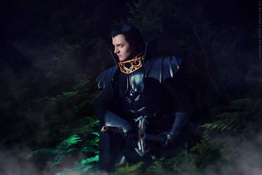 Record of Lodoss War - Ashram - Black knight by ErikDesler