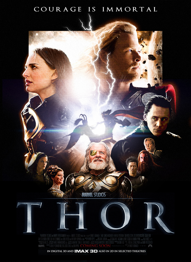 Drew Struzan-style Thor Poster by SkinnyGlasses