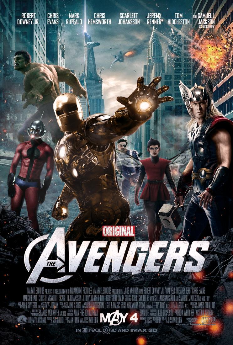 Original Avengers Poster by SkinnyGlasses