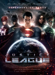 Justice League Poster by SkinnyGlasses