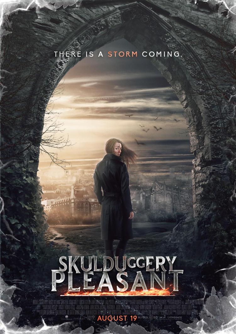 Skulduggery Pleasant Movie Poster (Stephanie) by SkinnyGlasses