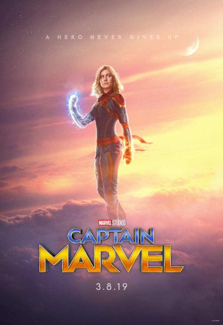 Captain Marvel Teaser Poster By Skinnyglasses On Deviantart