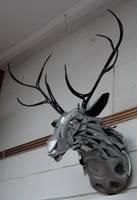 Deer Head by HubcapCreatures