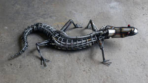 Steampunk Lizard by HubcapCreatures
