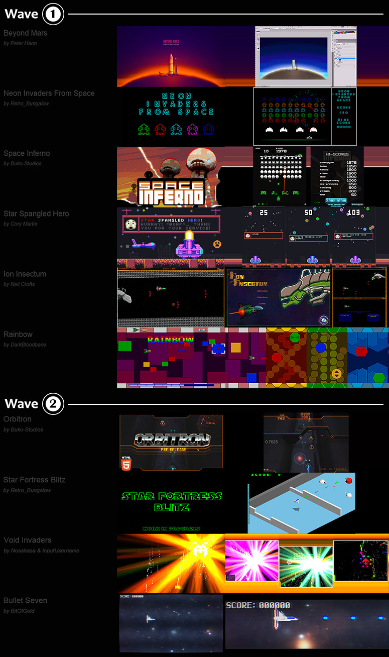 ShmupJam Games 01 + 02 by buko-studios