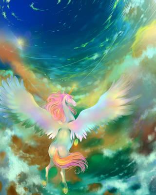Flight of Pegasus by OkyDraft