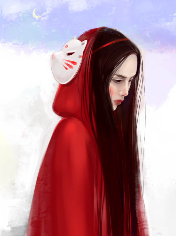 Red cape by OkyDraft