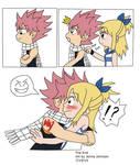 NaLu Comic - Unexpected glomp!