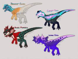 Dinovember #18 - Dilophosaur Batch (1/4)
