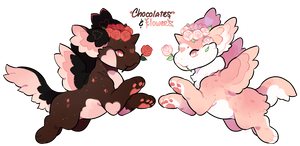 Chocolates and Flowers Plush Dragon Auction (SOLD)