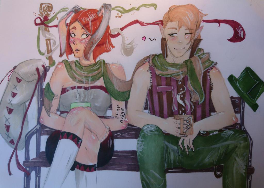 Prixa and The mug man. 'it's only coffee' by Ersatz-Essenx