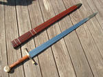Longsword with Burl and Brass