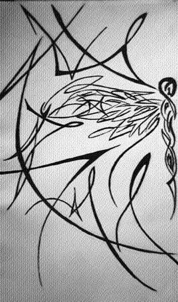 Half a Dragonfly - dragonfly tattoo