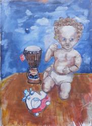 boy with toy 2010 by Messydog