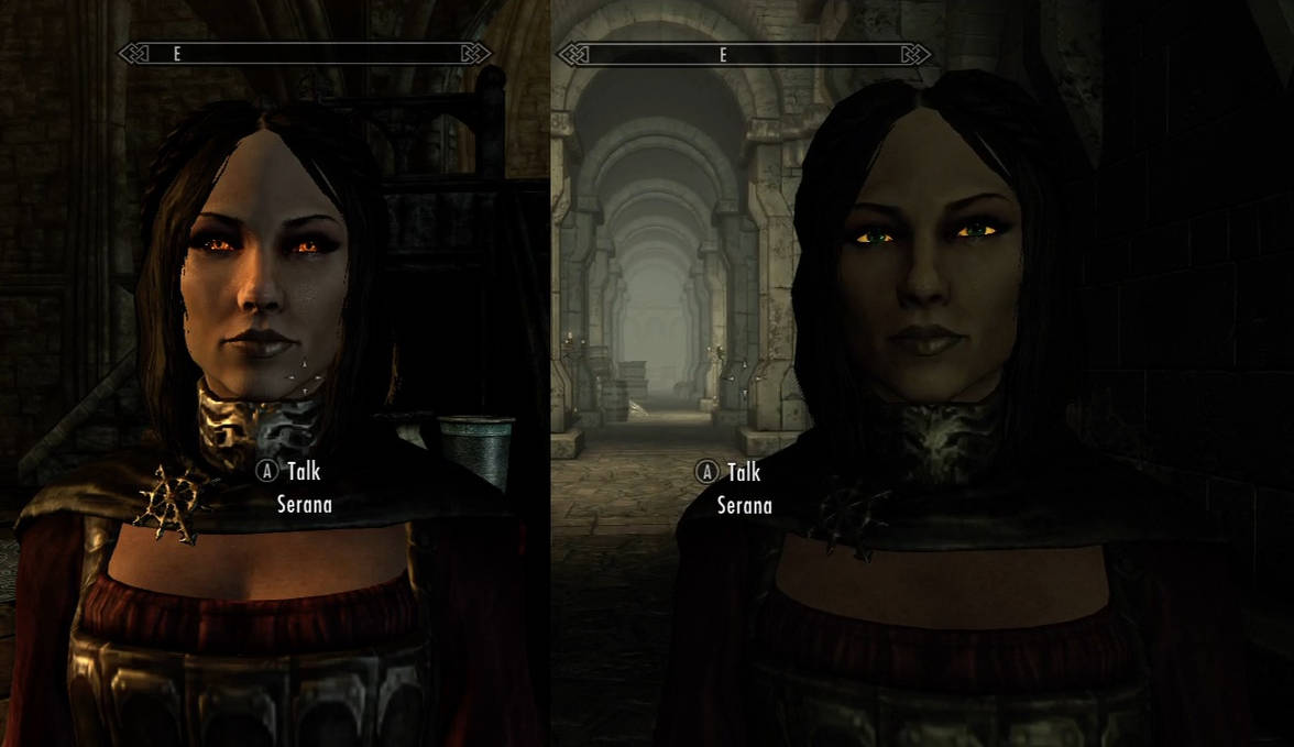 [Help] Serana has human eyes but is still a vampire ...
