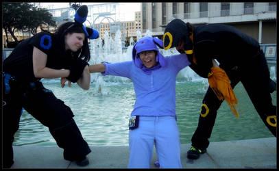 Umbreons Fighting Over Espeon by Cosplayer-Inochi