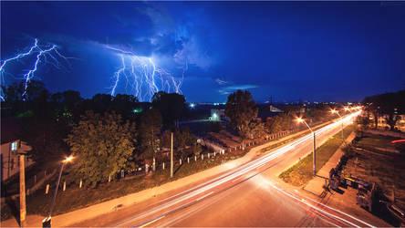 Lightning storm by dragos495