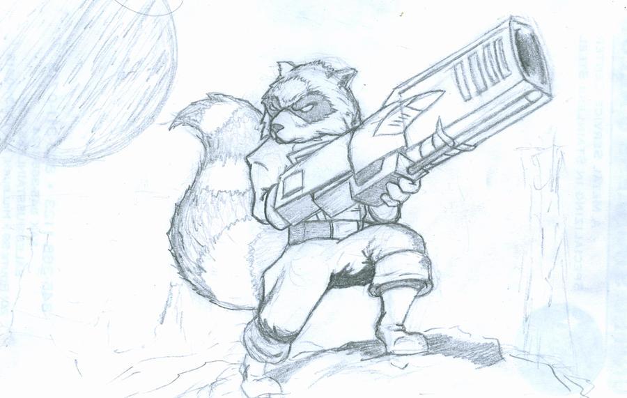 Rocket Raccoon Drawing Easy 96269 Applestory